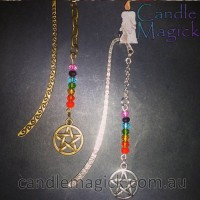 Chakra Rainbow Pentagram Bookmark