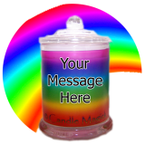 Rainbow Print Candle CUSTOMIZED! 32 hr Jar Soy Candle