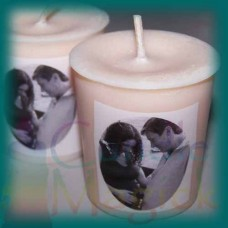 Create Your Candle - Natural Soy Votives 4pk personalized with YOUR IMAGE