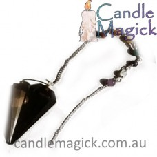 Smoky Quartz Pendulum  with Chakra Chain