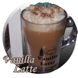 Vanilla Latte Soy Candle in Cafe Glassware