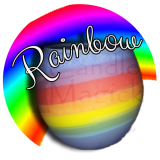Rainbow Sphere Soy Candle ~ Scented in selected fragrances