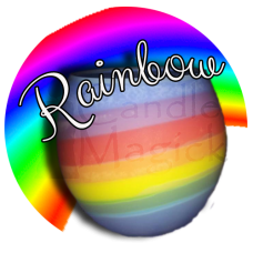 Rainbow Sphere Soy Candle ~ Unscented