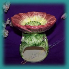 Floral Oil Burner ~ Plum