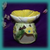Floral Oil Burner ~ Yellow