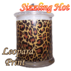 Leopard Print Scented Soy Candle Jar 32hr