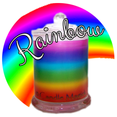 Rainbow Print Candle - 32 hr Jar Soy Candle