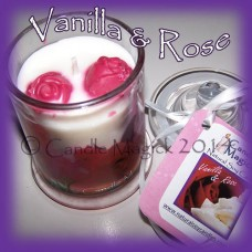 Vanilla & Roses Soy Candle Jar - SMALL - 32 hours