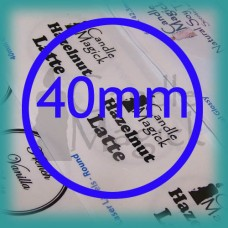 Upload your own design! CRYSTAL CLEAR  (GLOSSY) Custom Labels - 40mm CIRCLE x 24 (per page)