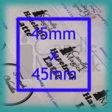 Upload your own design! CRYSTAL CLEAR (GLOSSY) Custom Labels - 45mm SQUARE x 20 (per page)