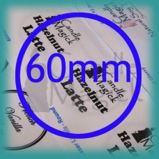 Upload your own design! CRYSTAL CLEAR (GLOSSY) Custom Labels - 60mm CIRCLE x 12 (per page)