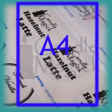 WHITE (MATTE ) Custom Labels - FULL A4 Sheet  x 1 (per page) - Upload your own design!