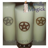 Pentagram Altar Candle - LARGE