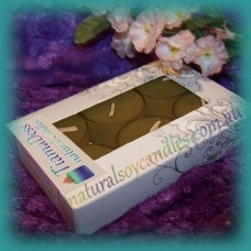 Scented 6hr Soy Tealights 6pk ~ Choc Mint Slice