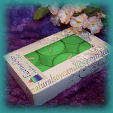 Scented 6hr Soy Tealights 6pk ~ Melon & Cucumber
