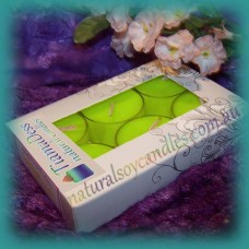 Scented 6hr Soy Tealights 6pk ~ Coconut & Lime