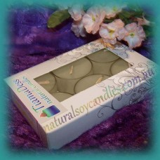 Scented 6hr Soy Tealights 6pk ~ Campfire Smoke