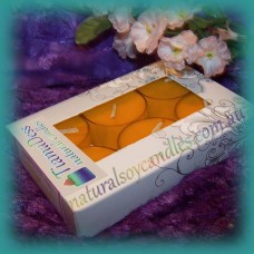 Scented 6hr Soy Tealights 6pk ~ Cinnamon & Orange