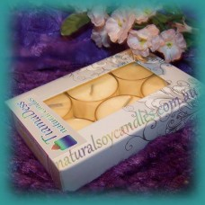 Scented 6hr Soy Tealights 6pk ~ Peaches & Cream