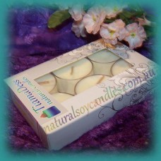 Scented 6hr Soy Tealights 6pk ~ Coconut