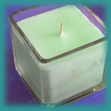 Square Glassware Scented Soy Candle ~ Melon & Cucumber