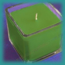 Square Glassware Scented Soy Candle ~ Exotic Woods