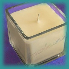 Square Glassware Scented Soy Candle ~ Peaches & Cream
