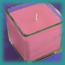 Square Glassware Scented Soy Candle ~  Satin Sheets