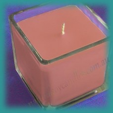 Large Square Glassware Scented Soy Candle ~ Strawberry Shortcake