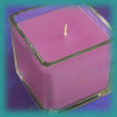 Square Glassware Scented Soy Candle ~  Sweet Pea & Vanilla