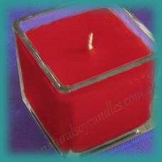 Square Glassware Scented Soy Candle ~ Ripe Raspberries