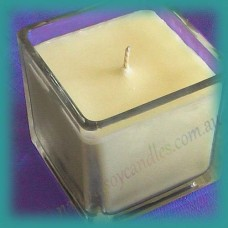 Square Glassware Scented Soy Candle ~ Black Tea & Lychee