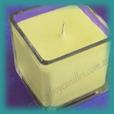 Square Glassware Scented Soy Candle ~ Frangipani