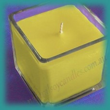 Square Glassware Scented Soy Candle ~ Banana