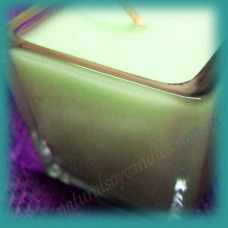 Square Glassware Scented Soy Votive Candle (small) ~ Melon & Cucumber