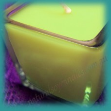 Square Glassware Scented Soy Votive Candle (small) ~ Coconut & Lime