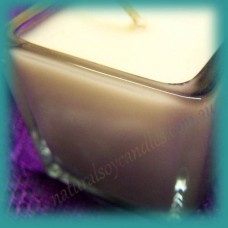 Square Glassware Votive Candle (small) ~ Black Tea & Lychee
