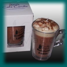 Hazelnut Latte Soy Candle in Cafe Glassware